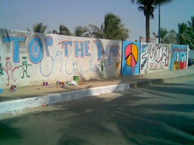 Mural painted on the wall at wsf