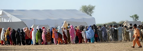 Swat IDPs in a relief camp