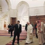 Pope Benedict touring Mosque In Jordan, With his Shoes On