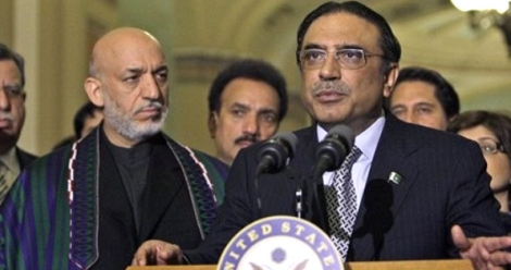 Asif Zardari and Hamid Karazai in USA