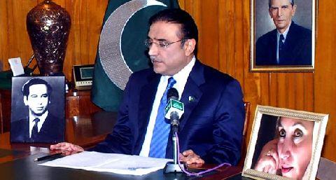 President Asif Ali Zardari addressing the nation