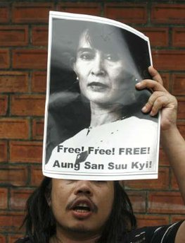 Protest to release Aung San Suu Kyi