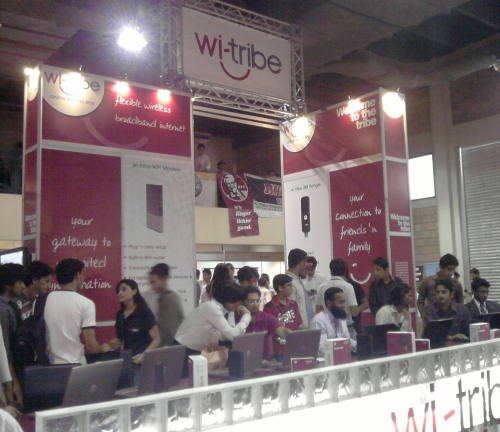 wi-tribe booth at ITCN 2009