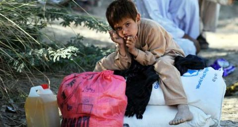 An internally displaced boy, fleeing from military operations against Taliban militants in South Waziristan.jpg