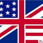 Flag of UK and USA