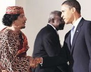 Gaddafi and Obama