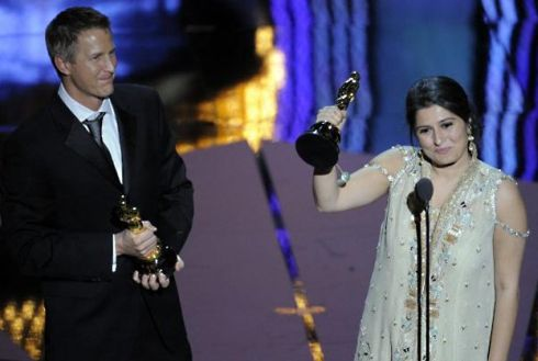 Sharmeen Obaid Chinoy with Oscar for Saving Face