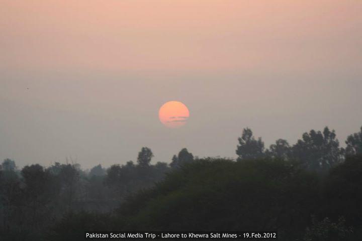 Sunset at Bhera - Pakistan Social Media Trip