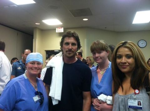 Christian Bale with Colorado Survivors