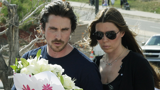 Christian Bale with Wife Visits Colorado Survivors