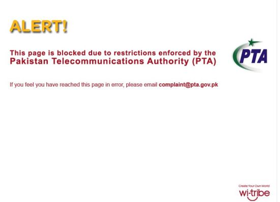 pta block youtbe pakistan wi-tribe