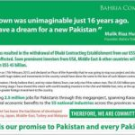 Bahria Town statement on cancellation of World Tallest Tower project in Karachi
