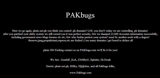 pknic defaced by pakbugs