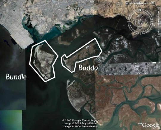 Bundle and Buddo islands near Karachi