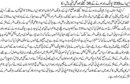 NA239 Karachi Rigging