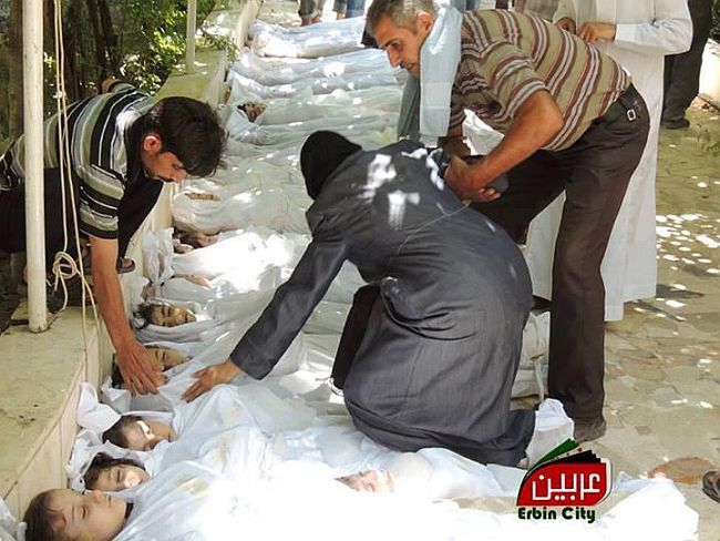 Ghouta Damascus Syria massacre by Bashar Al Assad forces