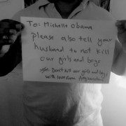 Michelle Obama #bringbackourgirls from afghanistan