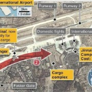 karachi airport attack map -english