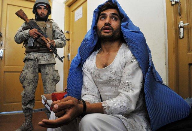 Afghan Male in Burqa Jalalabad Afghanistan