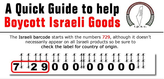israel super market products to boycott