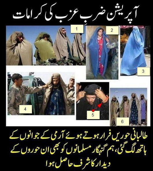 waziristan taliban in burqa zarbeazb