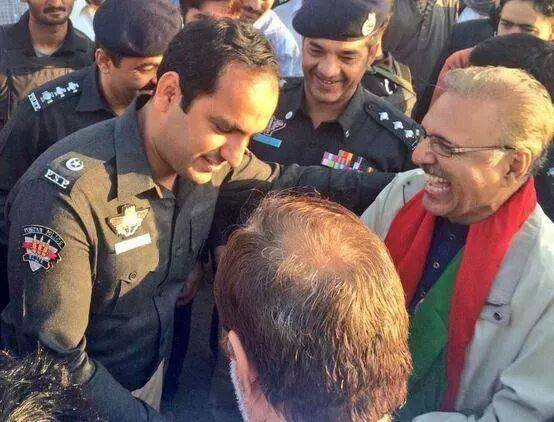 arif alvi happy with police