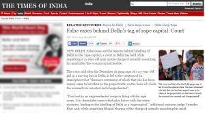 Delhi False Allegations Rape
