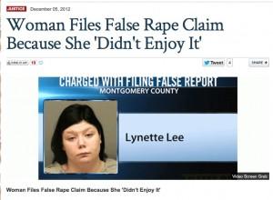 False Rape