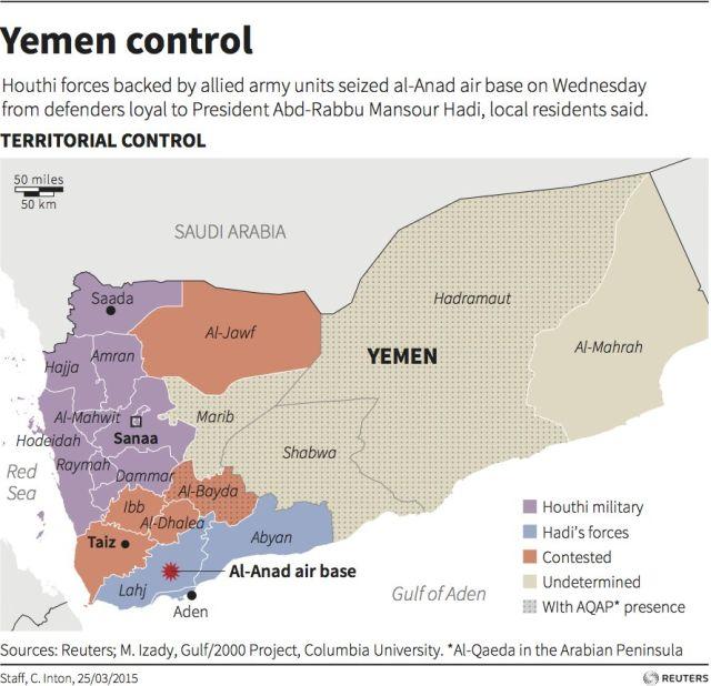 yemen territorial control