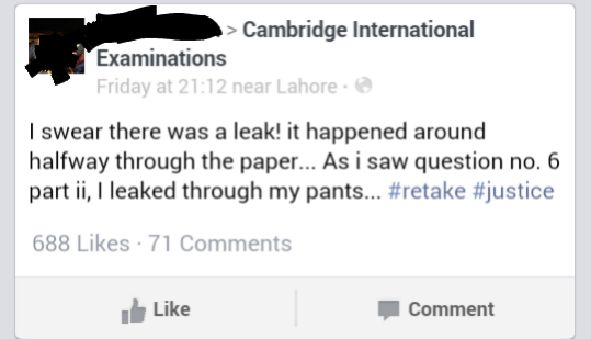 CIE papers leaked in Pakistan? - Chowrangi