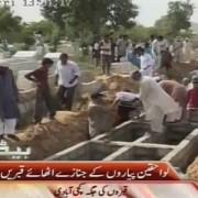 mass graves of karachi heatwave victims