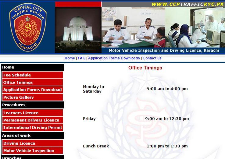 karachi traffic police timings