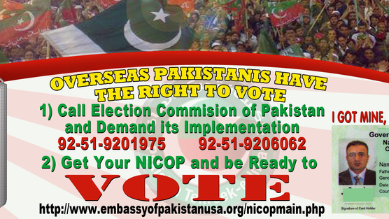 overseas pakistanis right to vote elections
