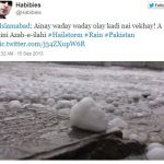 A hail storm in Islamabad