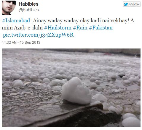 hail storm in islamabad